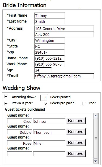 Click to see the tickets these database entries generated